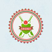 stock photo of cricket ball  - Sticker - JPG