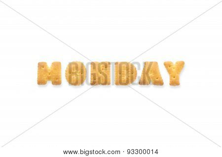 The Letter Word Monday Alphabet  Cookie Biscuits