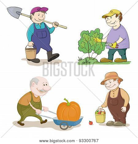 Cartoon: gardeners work