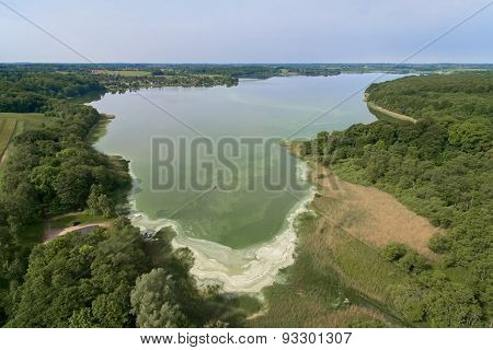Aerial View Of Sjaelsoe Lake, Denmark
