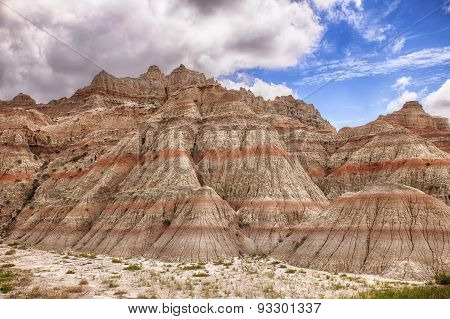 Color Mountains In The Badlands