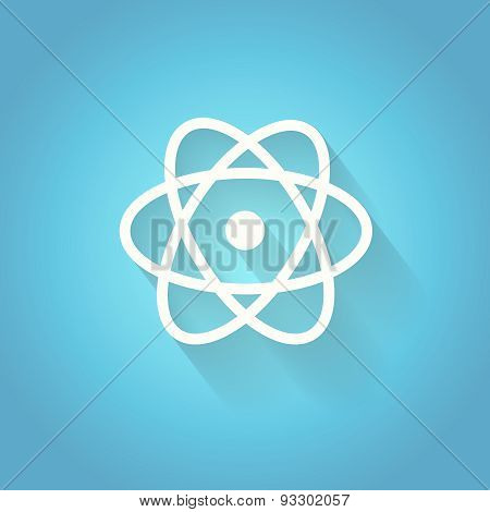 Atom, molecule. the symbol of physics and chemistry.