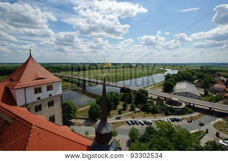 View from above of Torgau