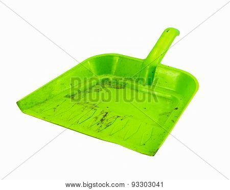 The Dustpan On White Isolate Background.