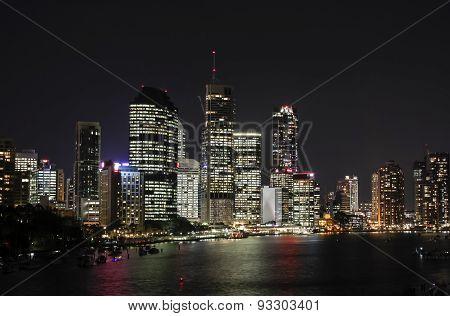 Brisbane City Night View