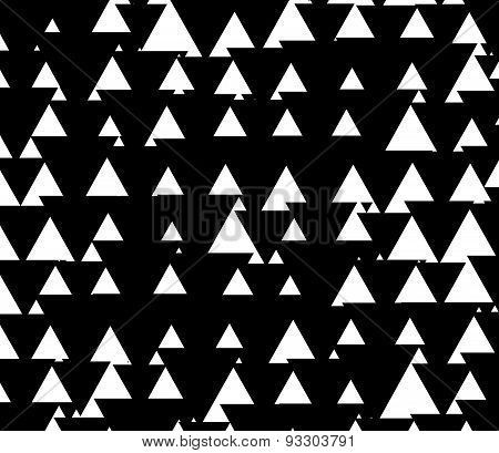 Black And White Pattern With Triangles Up And Down. Triangle Shapes With Inverse Space.