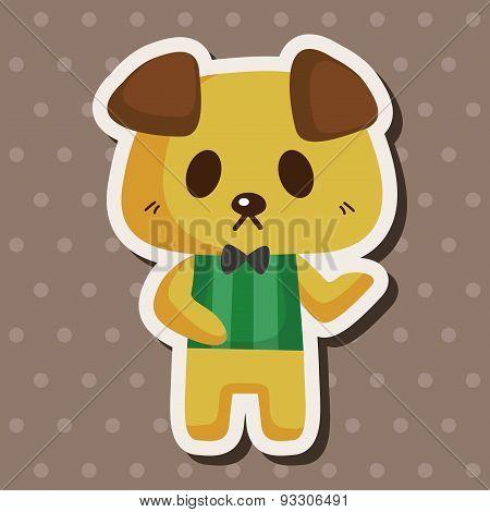 Animal Dog Waiter Cartoon Theme Elements