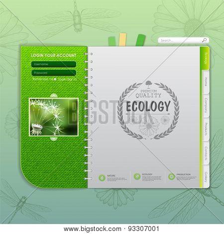 Web Site Design. Ecology Background