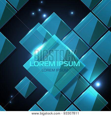 Web Site Technology Geometric Glossy Background