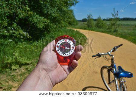 Compass And Bike.