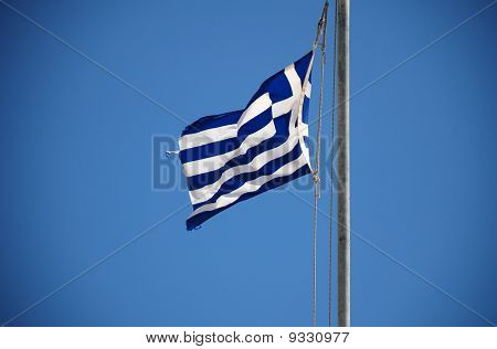 Greek flag, Halki island
