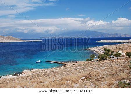 Ftenagia beach, Halki island