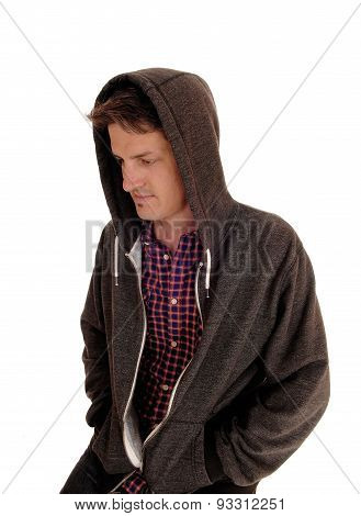Young Man In Hoodie