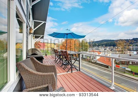 Northwest Traditional Wooden Deck With A View
