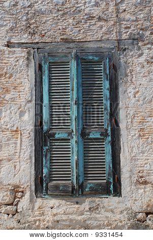 Wooden shutters, Halki island