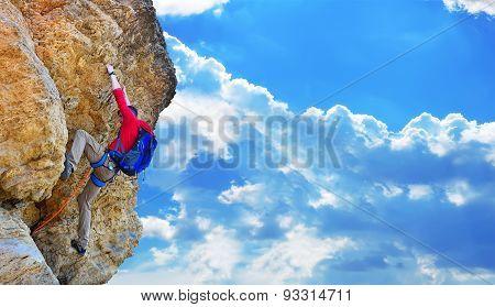 Climber Climbing Up