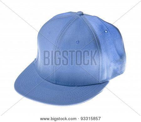 Blue Baseball Cap  On White Background.