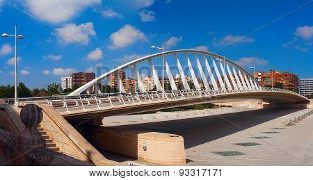Calatrava Bridge. Valencia, Spain