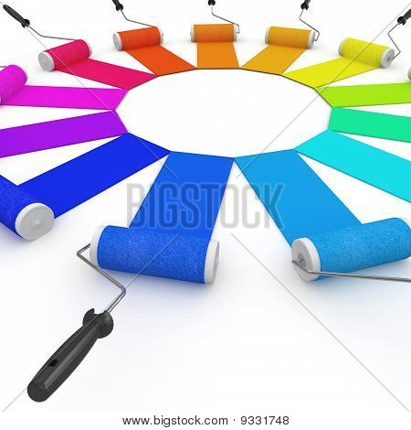 3D Color Wheel With Rollers