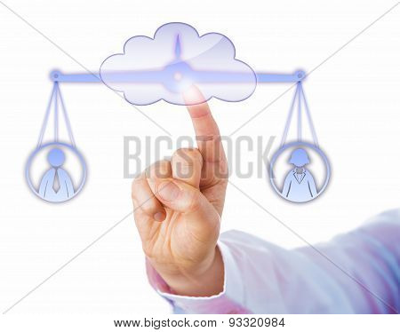 Balancing A Male And A Female Worker In The Cloud
