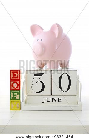 End Of Financial Year Savings Concept