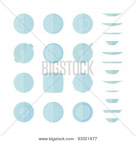 Abstract Illustration Of Dishes.