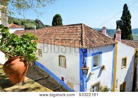 The medieval city of Obidos in Portugal
