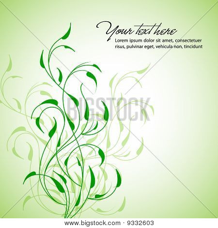 Clean Floral Vector Background