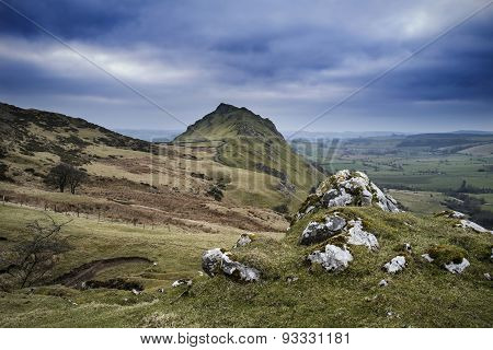 Stunning Landscape Of Chrome Hill And Parkhouse Hill In Peak District In Uk