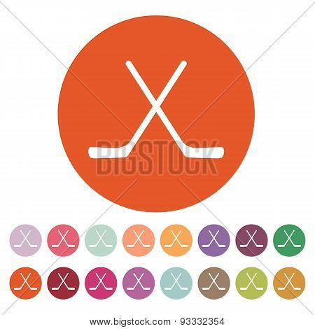 The Hockey Icon. Game Symbol. Flat