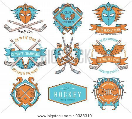 Hockey Badges And Lables Vol. 1 Colored