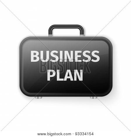 Black briefcase, Business plan concept