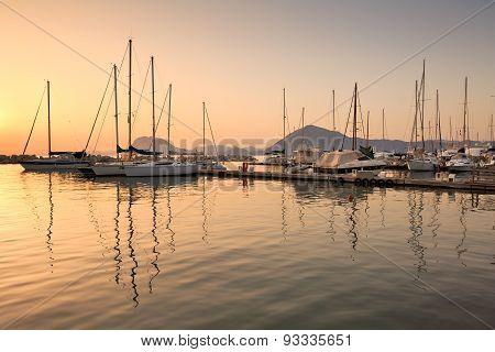 Marina in Patras.