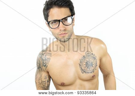 male sexy wearing glasses