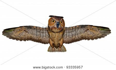 Eagle owl - 3D render