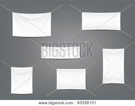White Banners With Garters Set