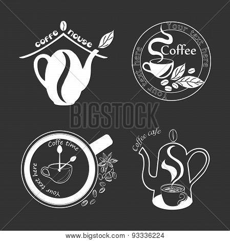 Coffee Retro Vintage Labels Logo, emblems and design elements