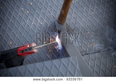Two Man With Arc Welding