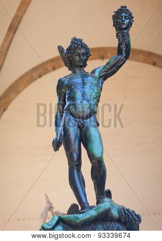 Perseus holding head of Medusa. Florence