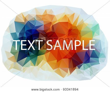 Abstract Polygonal Colorful