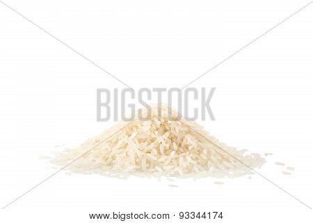 Pile Of Jasmine Rice Isolated On White