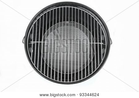 Empty New Clean Bbq Kettle Grill Isolated