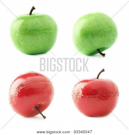 Apple fruit artificial plastic decoration