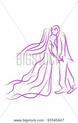 Vector wedding in love
