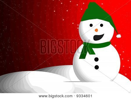 Snowman talking with room for text