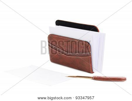 Envelope holder and opener