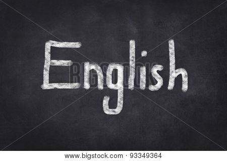 English written text on chalkboard