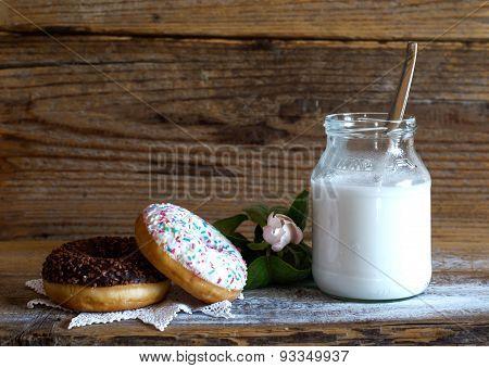 Vintage donut still life