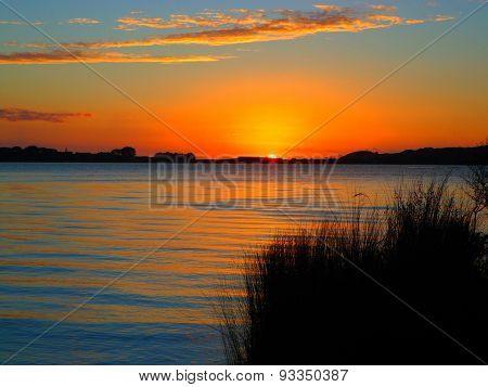 Sunset at Lake Kai Iwi