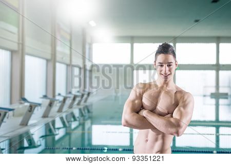 Young Muscular Swimmer